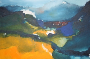 « The Valley », 2015, 50 x 60 cm, acrylic on canvas