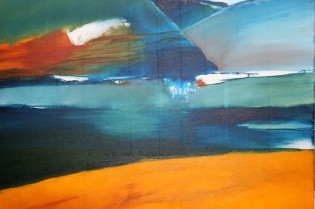 « Stilles Blau », 2015, 50 x 60 cm, acrylic on canvas