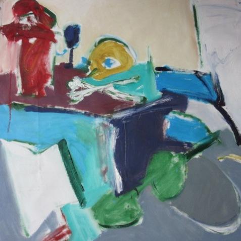 « Composition n°1», oil on canvas, 72,5x72,5 cm