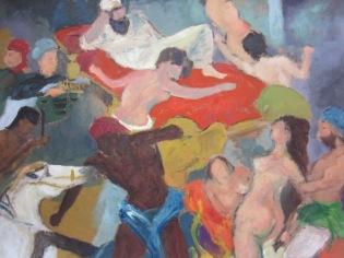 « Interprétation Radeau de la Méduse », oil on paper, 88x102,5 cm