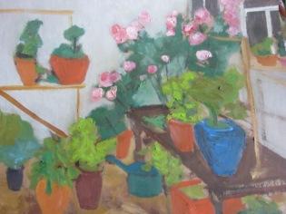 Jardin », oil on paper, 90x80cm