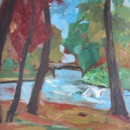 « Pont », oil on paper, 62x57cm