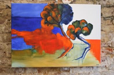 « Los pinos », 2017, 50 x 70 cm, acrylic on canvas