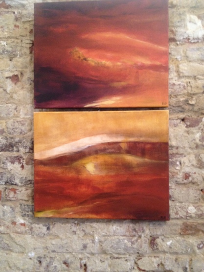 Timanfaya III und IV, 50x40 cm, acrylics